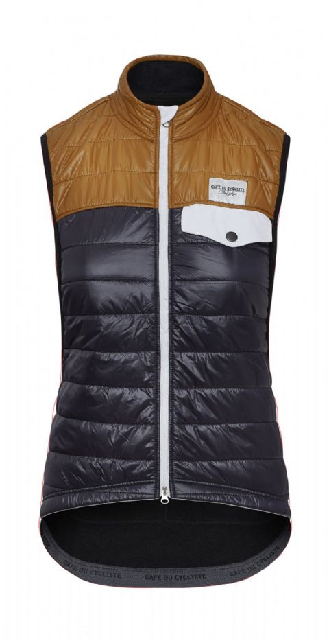 Café Du Cycliste Women's Albertine Gilet - Navy & Gold